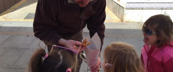Churros on Andalucian Day Ayamonte